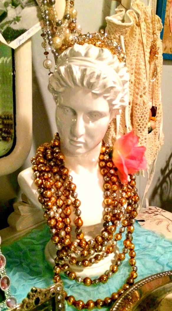 Beads on head