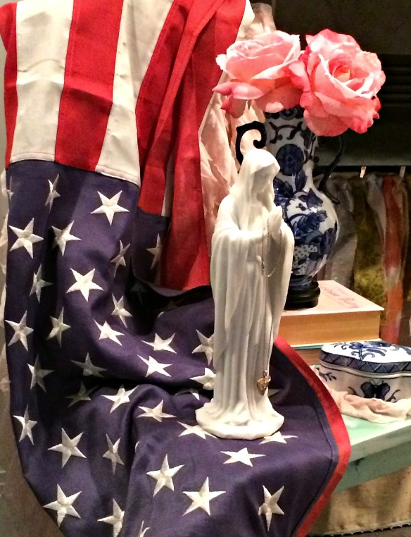 Flag and Mary