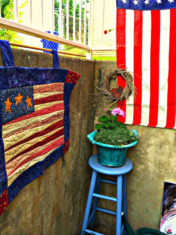 Outside flag