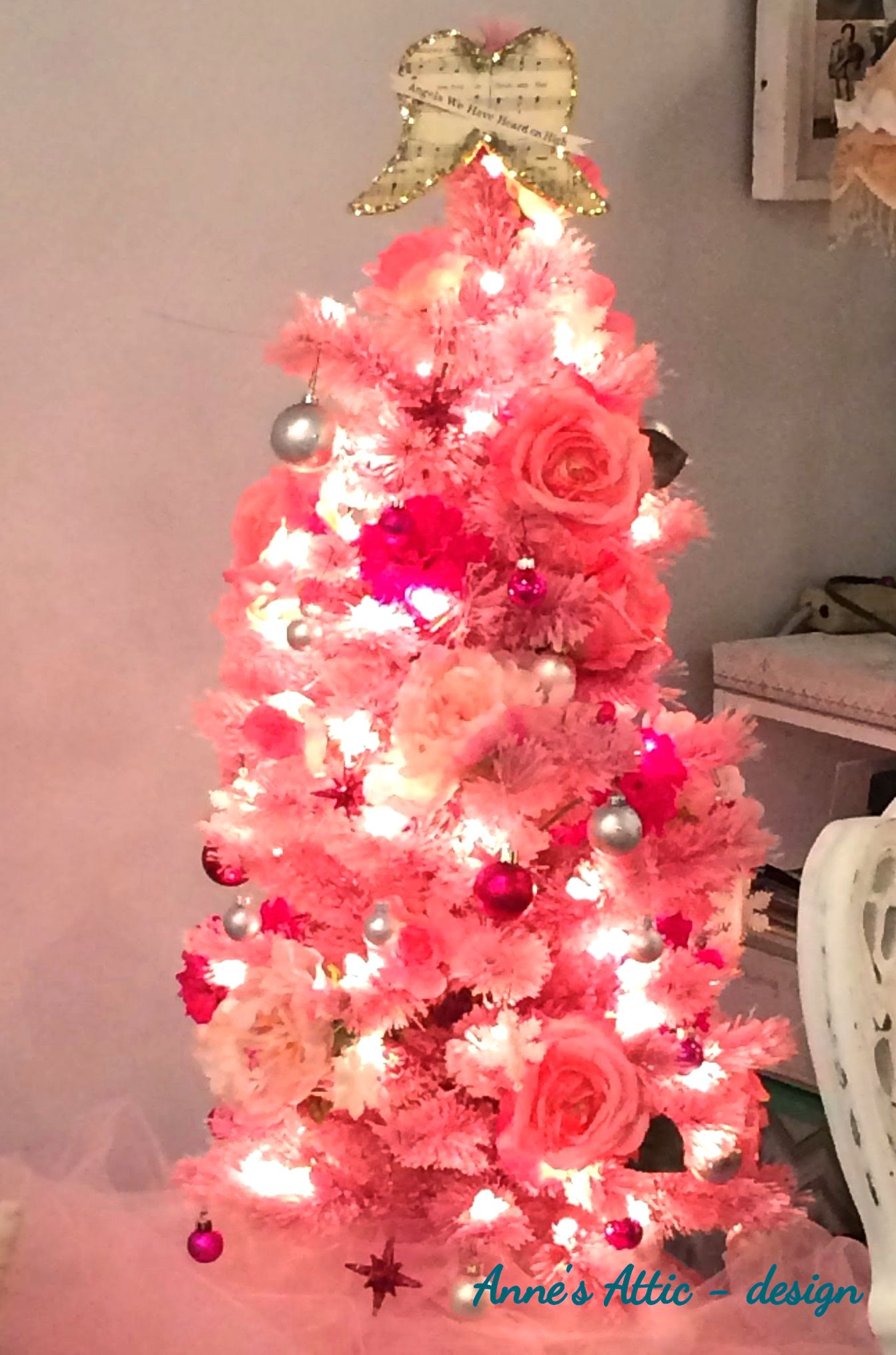Befunky Christmas Tree Pink