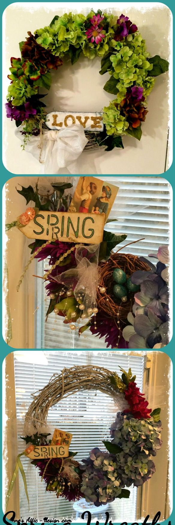 Spring wreath collage