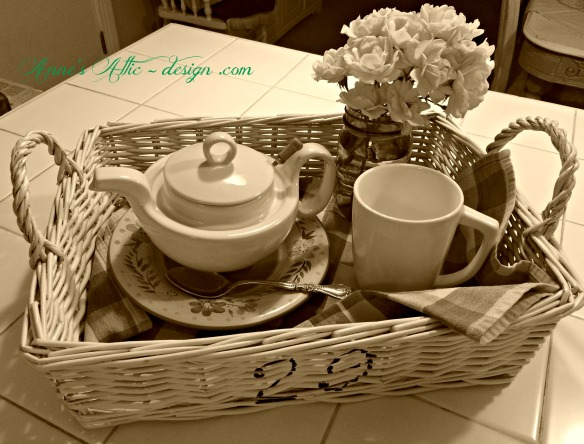 Tray Sepia tea