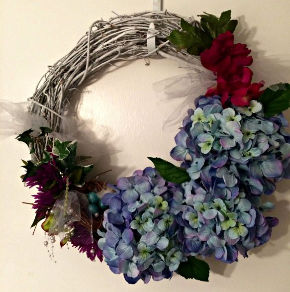 Etsy wreath blue