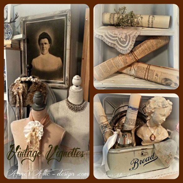 Vintage vignettes Collage