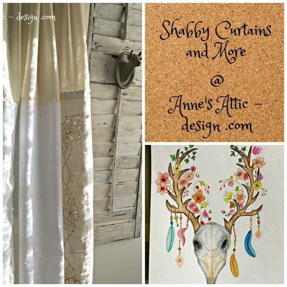 shabby curtain collage