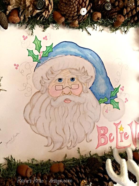 blue santa face